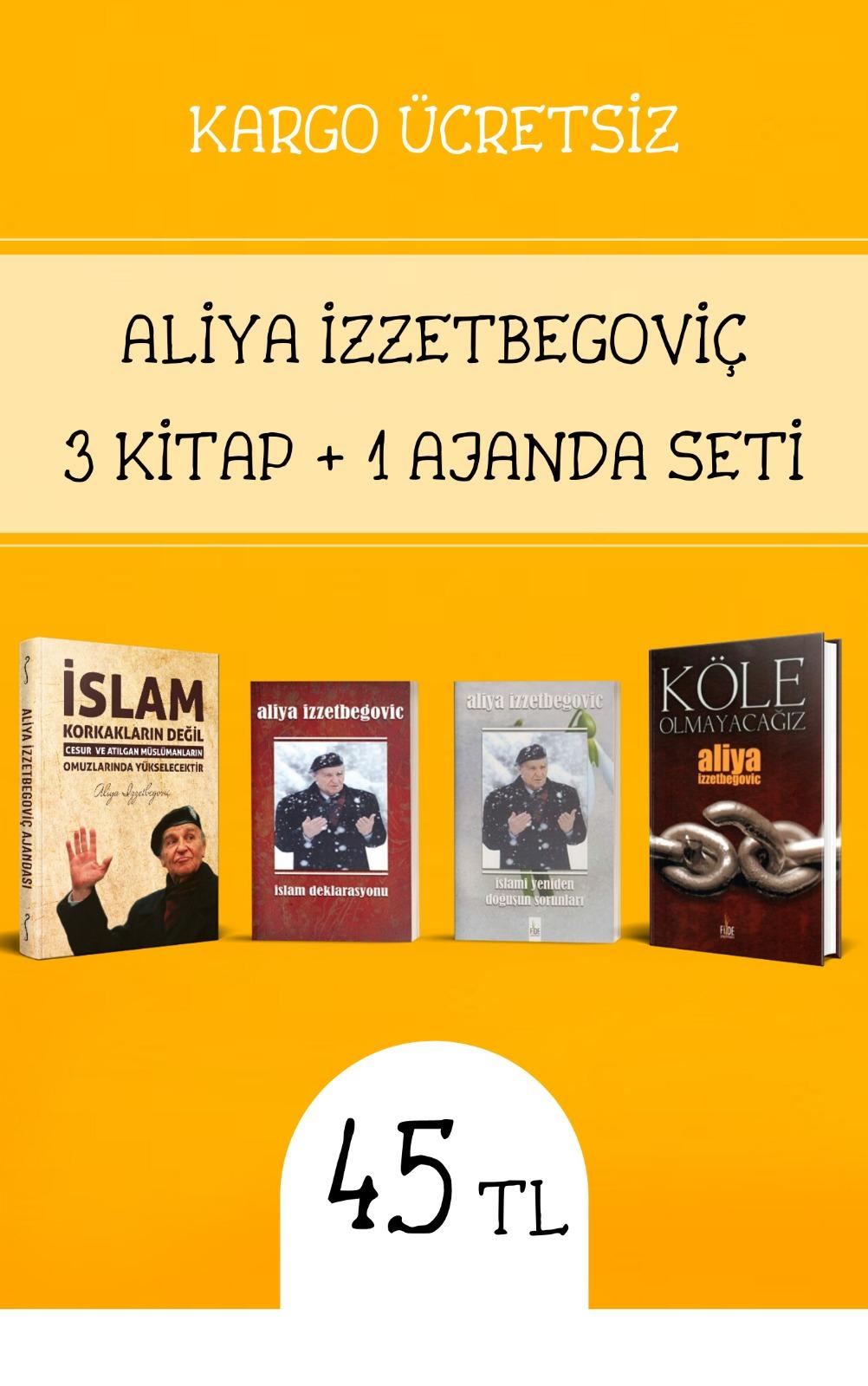 ALİYA İZZETBEGOVİÇ 3 KİTAP + 1 AJANDA SETİ