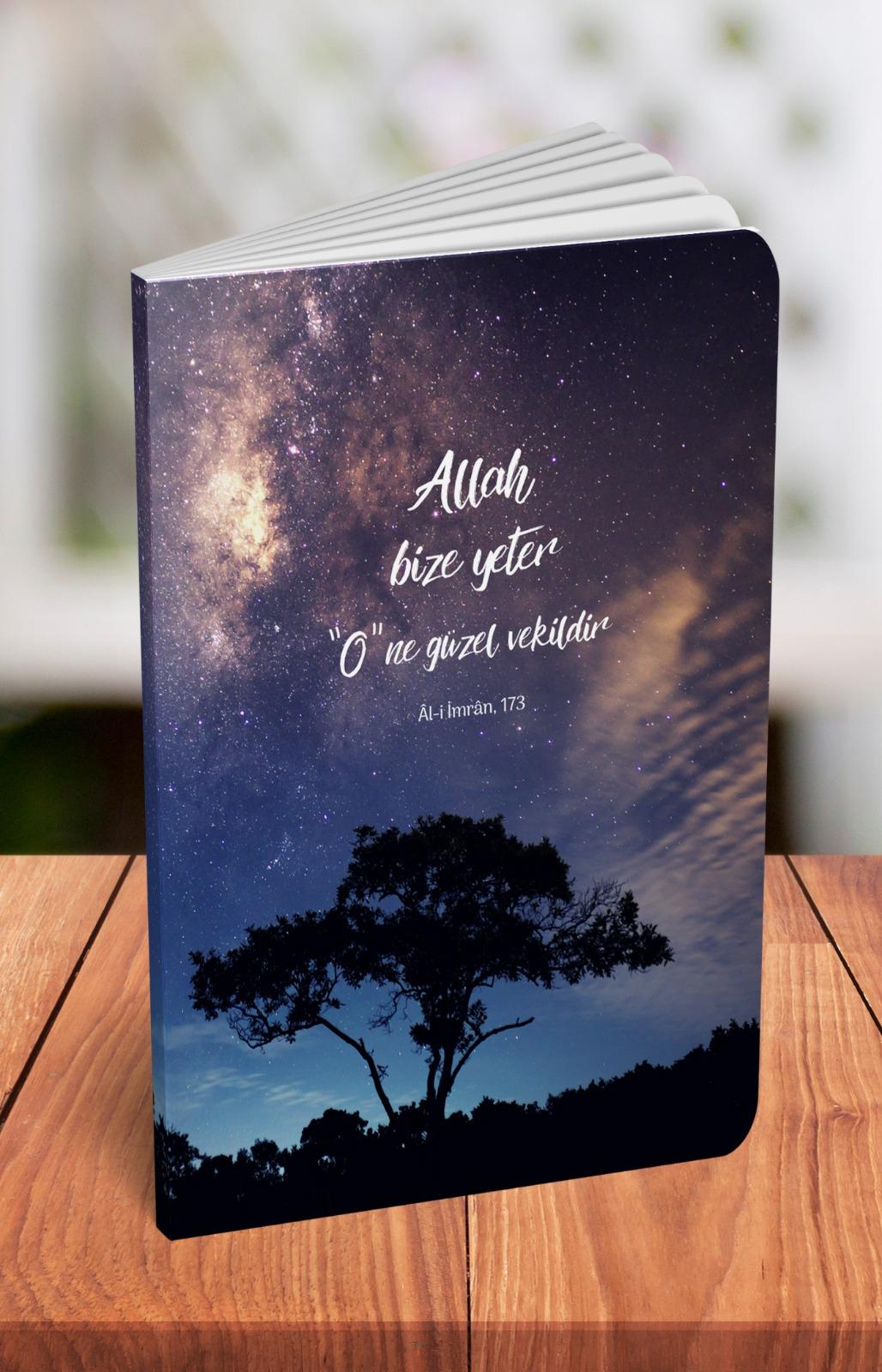 Allah Bize Yeter - A5 Çizgili Defter