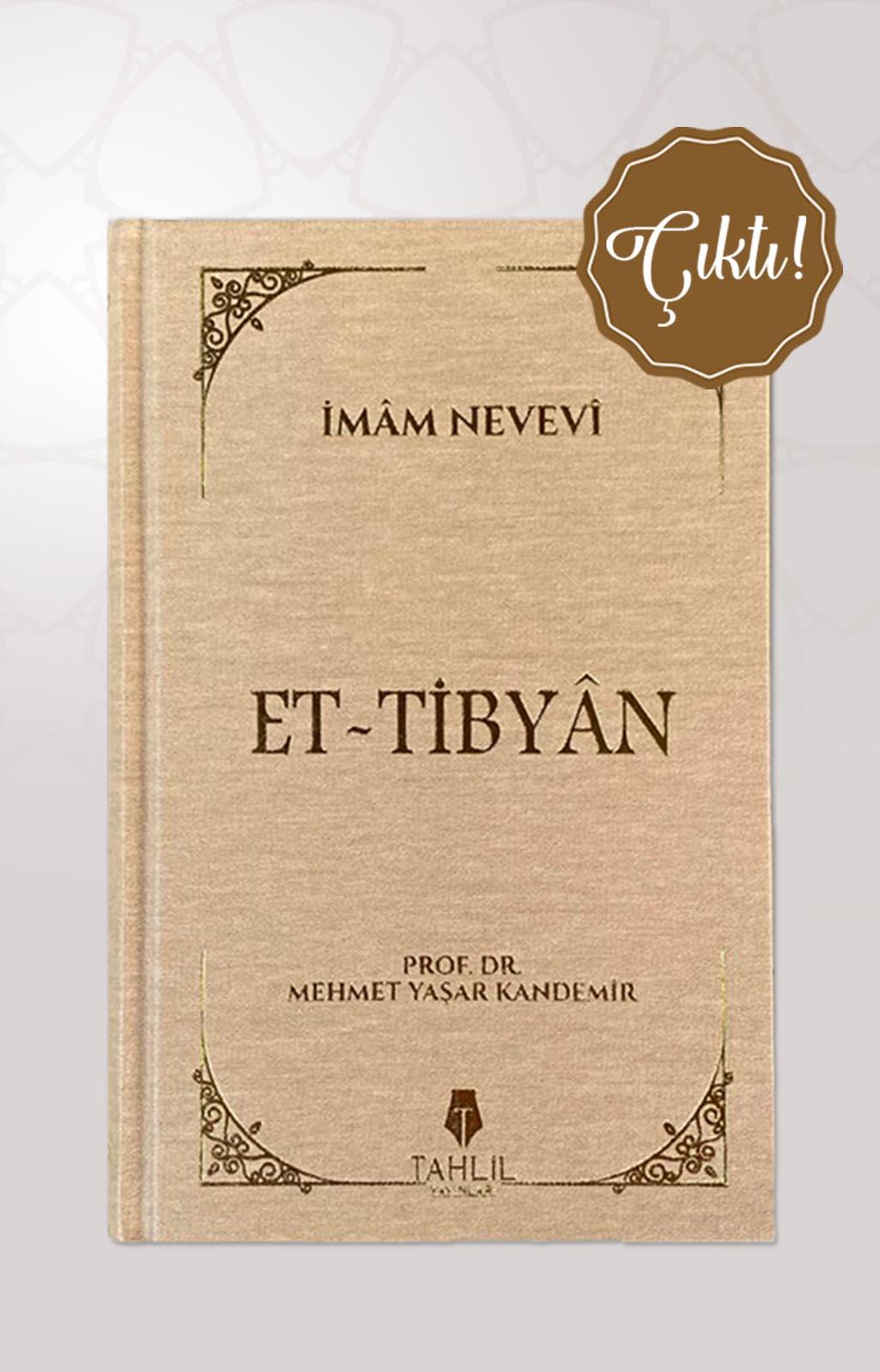 Et-Tibyân ( Bez Cilt Kapak )