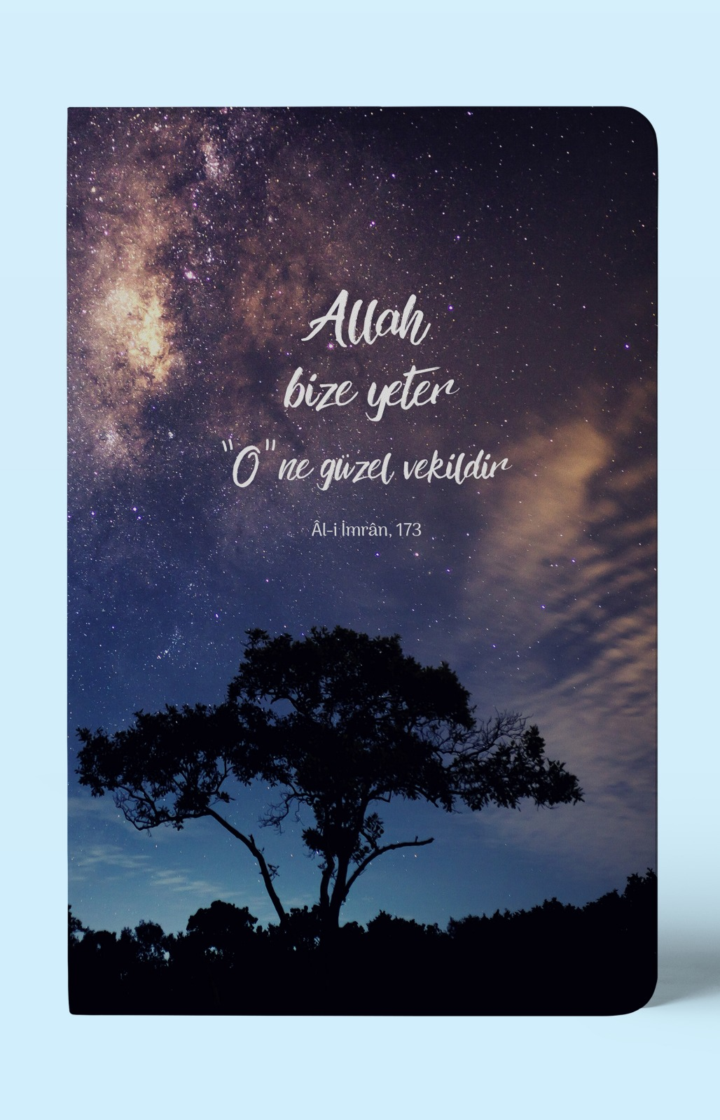 Allah Bize Yeter - A5 Çizgisiz Defter