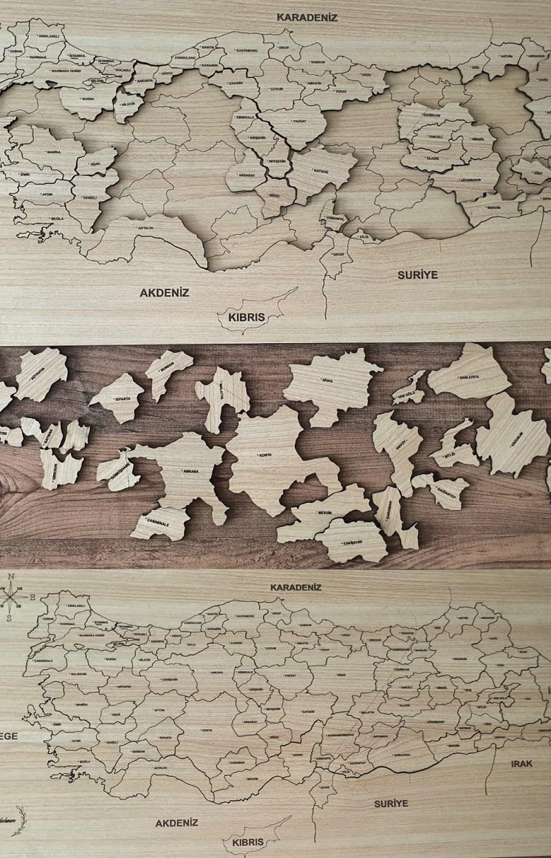 Türkiye Ahşap Puzzle Harita